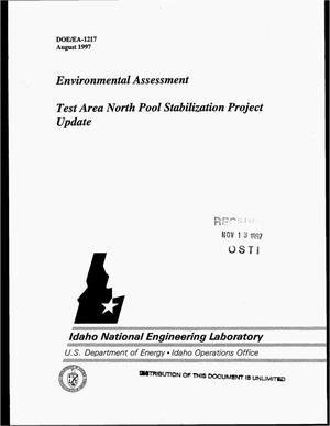 Primary view of object titled 'Environmental Assessment -- Test Area North pool stabilization project update'.