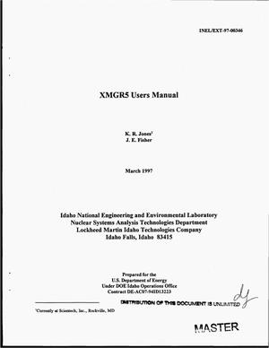 Primary view of object titled 'XMGR5 users manual'.