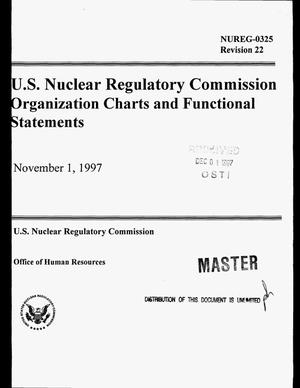Primary view of object titled 'US Nuclear Regulatory Commission organization charts and functional statements'.