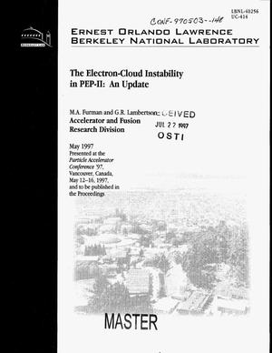 Primary view of object titled 'The electron-cloud instability in PEP-II: An update'.