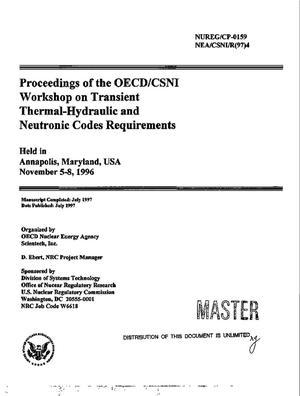 Primary view of object titled 'Proceedings of the OECD/CSNI workshop on transient thermal-hydraulic and neutronic codes requirements'.
