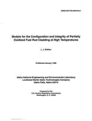 Primary view of object titled 'Models for the Configuration and Integrity of Partially Oxidized Fuel Rod Cladding at High Temperatures'.