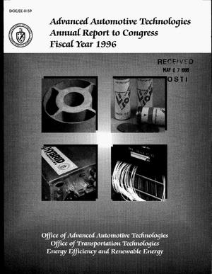 Primary view of object titled 'Advanced Automotive Technologies annual report to Congress, fiscal year 1996'.