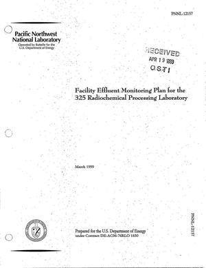 Primary view of object titled 'Facility Effluent Monitoring Plan for the 325 Radiochemical Processing Laboratory'.