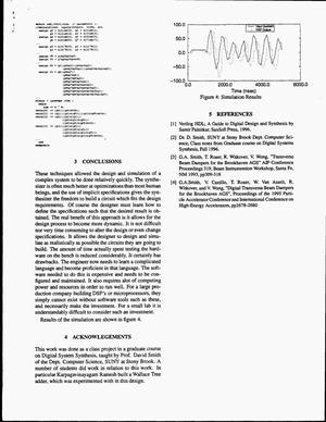 An example of a digital synthesis approach to DSP design: The AGS