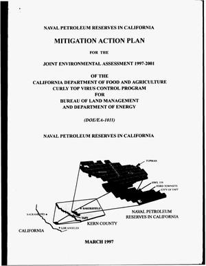 Primary view of object titled 'Joint environmental assessment 1997--2001 of the California Department of Food and Agriculture Curly Top Virus Control Program for Bureau of Land Management and Department of Energy'.