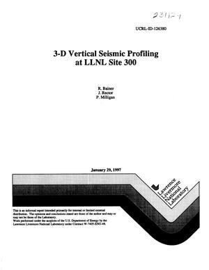Primary view of object titled '3-D vertical seismic profiling at LLNL Site 300'.