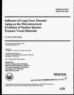 Primary view of object titled 'Influence of long-term thermal aging on the microstructural evolution of nuclear reactor pressure vessel materials: An atom probe study'.