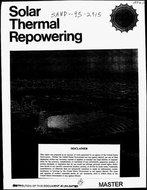 Primary view of object titled 'Solar thermal repowering'.