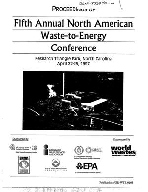 Primary view of object titled 'Proceedings of fifth annual North American waste-to-energy conference'.