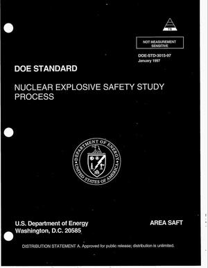 Primary view of object titled 'Nuclear explosive safety study process'.