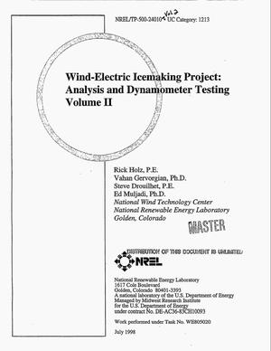 Primary view of object titled 'Wind-electric icemaking project: Analysis and dynamometer testing. Volume 2'.