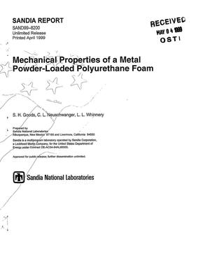 Primary view of object titled 'Mechanical Properties of a Metal Powder-Loaded Polyurethane Foam'.
