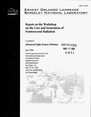 Primary view of object titled 'A Report on the Workshop on the Uses and Generation ofFemtosecond Radiation'.