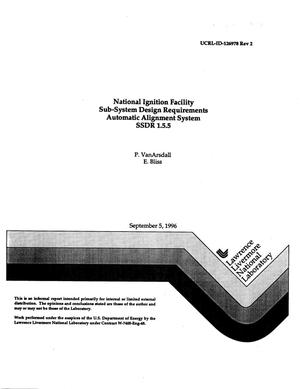 Primary view of object titled 'National Ignition Facility sub-system design requirements automatic alignment system SSDR 1.5.5'.