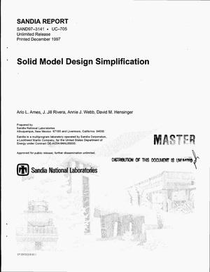Primary view of object titled 'Solid model design simplification'.