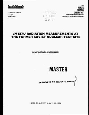 Primary view of object titled 'In situ radiation measurements at the former Soviet Nuclear Test Site'.