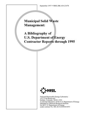 Primary view of object titled 'Municipal solid waste management: A bibliography of U.S. Department of Energy contractor reports through 1995'.
