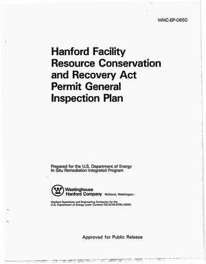 Primary view of object titled 'Hanford Facility Resource Conservation and Recovery Act Permit General Inspection Plan'.