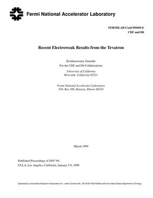 Primary view of object titled 'Recent Electroweak Results from the Tevatron'.