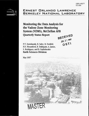 Primary view of object titled 'Monitoring and data analysis for the Vadose Zone Monitoring System (VZMS), McClellan AFB. Quarterly status report'.