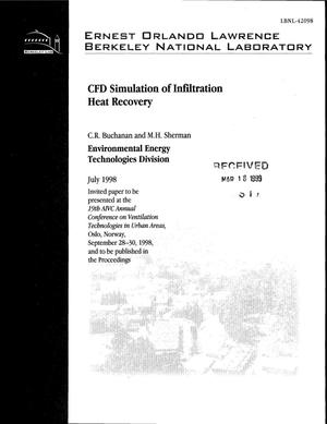 Primary view of object titled 'CFD Simulation of Infiltration Heat Recovery'.