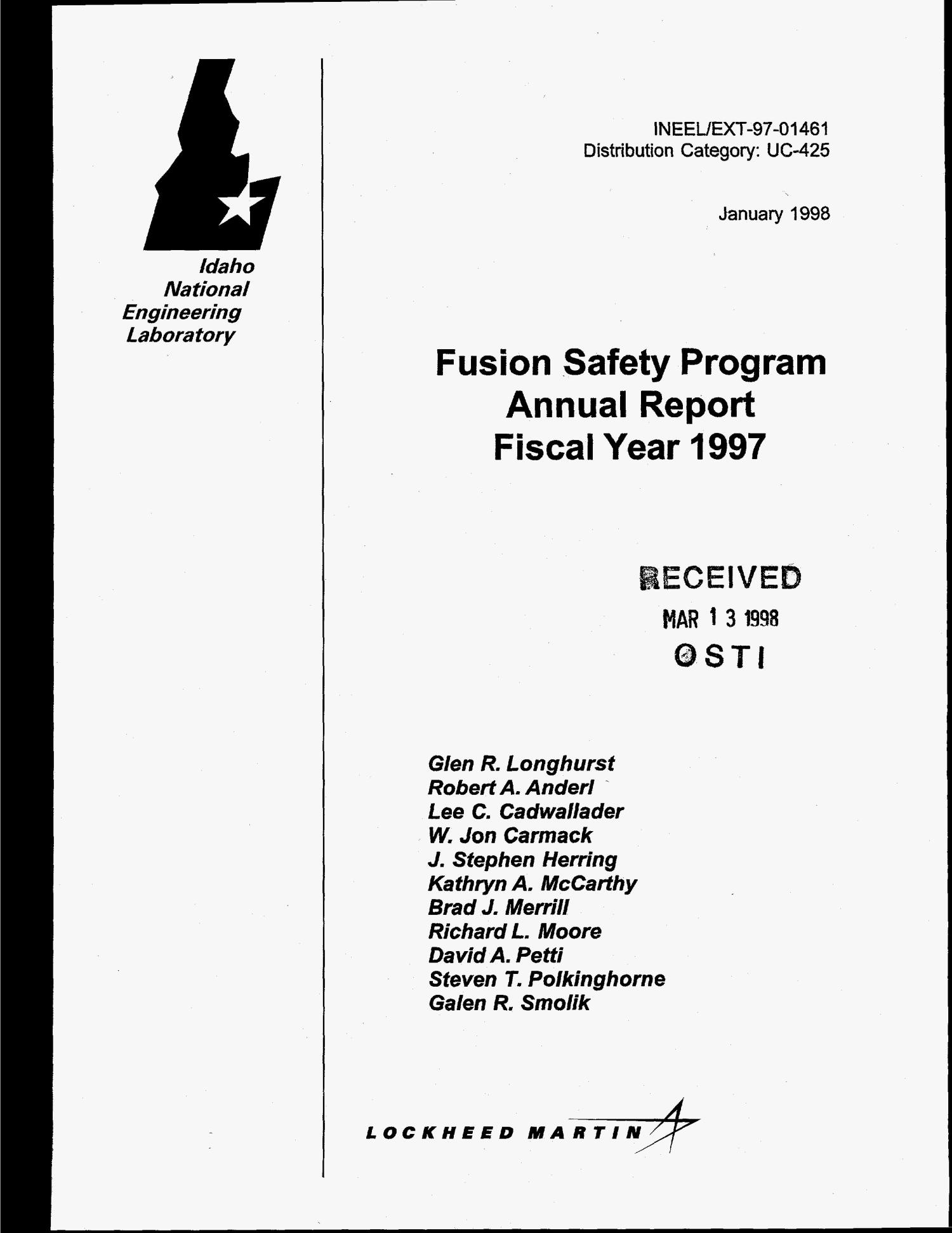 Fusion safety program annual report fiscal year 1997                                                                                                      [Sequence #]: 1 of 70