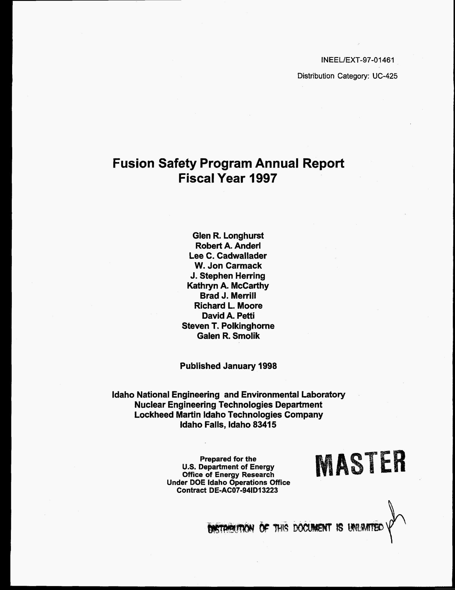 Fusion safety program annual report fiscal year 1997                                                                                                      [Sequence #]: 3 of 70