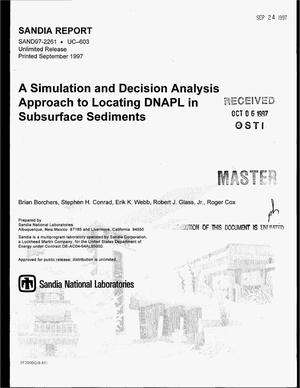 Primary view of object titled 'A simulation and decision analysis approach to locating DNAPL in subsurface sediments'.