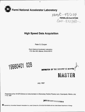 Primary view of object titled 'High speed data acquisition'.
