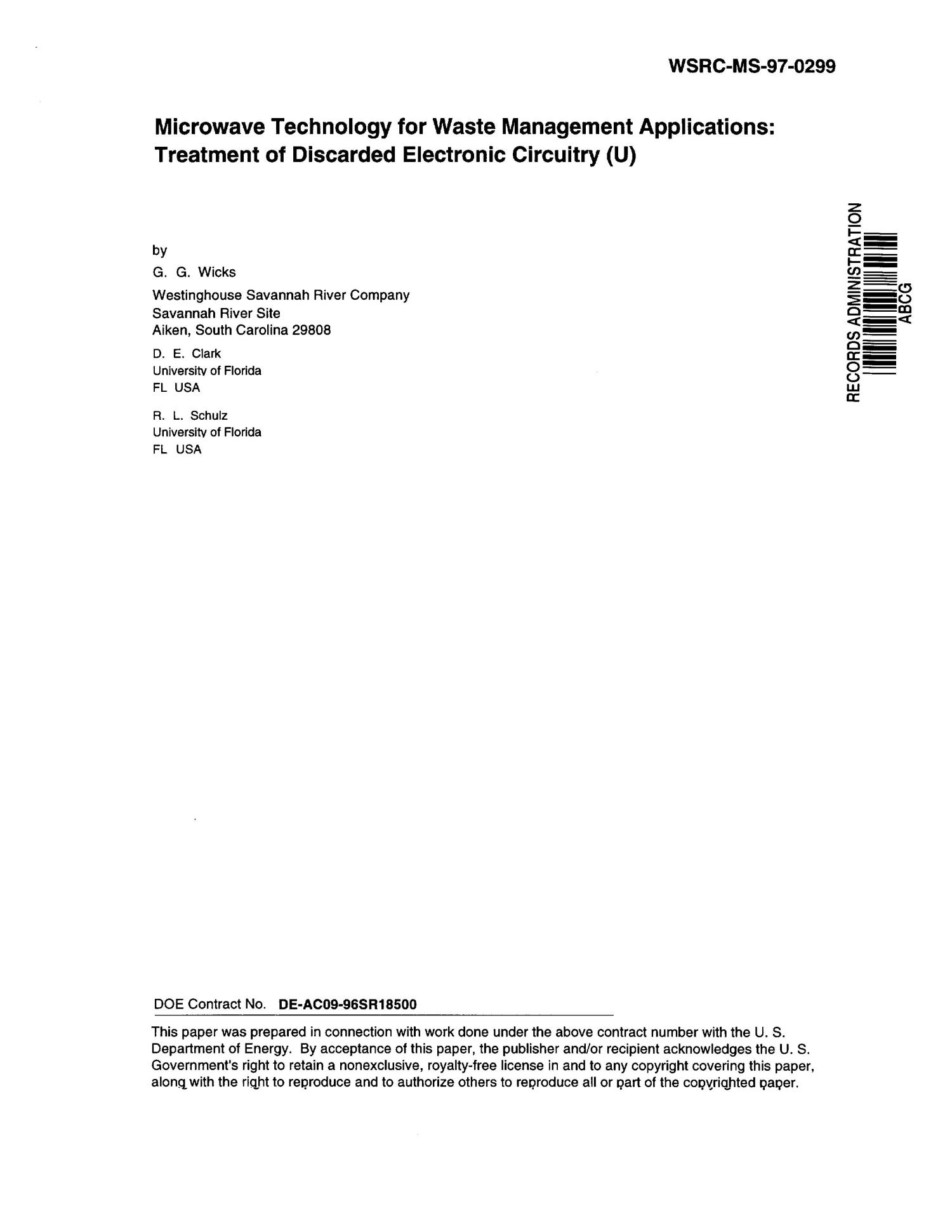 Microwave Technology For Waste Management Applications Treatment Of Electronic Circuits Explained Discarded Circuitry Digital Library