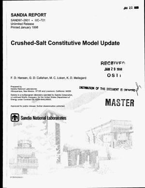 Primary view of object titled 'Crushed-salt constitutive model update'.