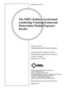 Primary view of object titled 'The NREL Outdoor Accelerated-weathering Tracking System and Photovoltaic Module Exposure Results'.