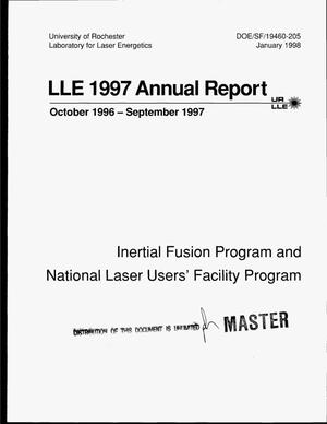 Primary view of object titled 'LLE 1997. Annual report, October 1996--September 1997'.
