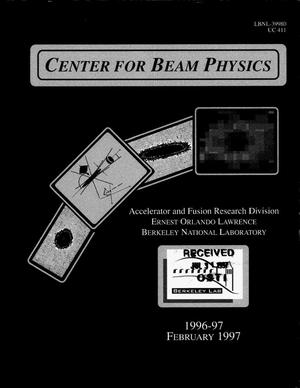 Primary view of object titled 'Center for beam physics 1996-1997'.