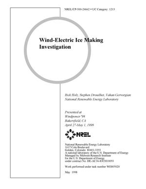Primary view of object titled 'Wind-electric ice making investigation'.