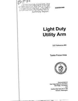 Primary view of object titled 'Light duty utility arm'.