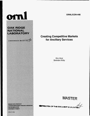 Primary view of object titled 'Creating competitive markets for ancillary services'.