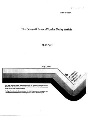 Primary view of object titled 'Petawatt Laser - Physics Today article'.