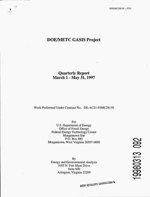 Primary view of object titled 'DOE/METC GASIS Project. Second quarterly report, 1997'.