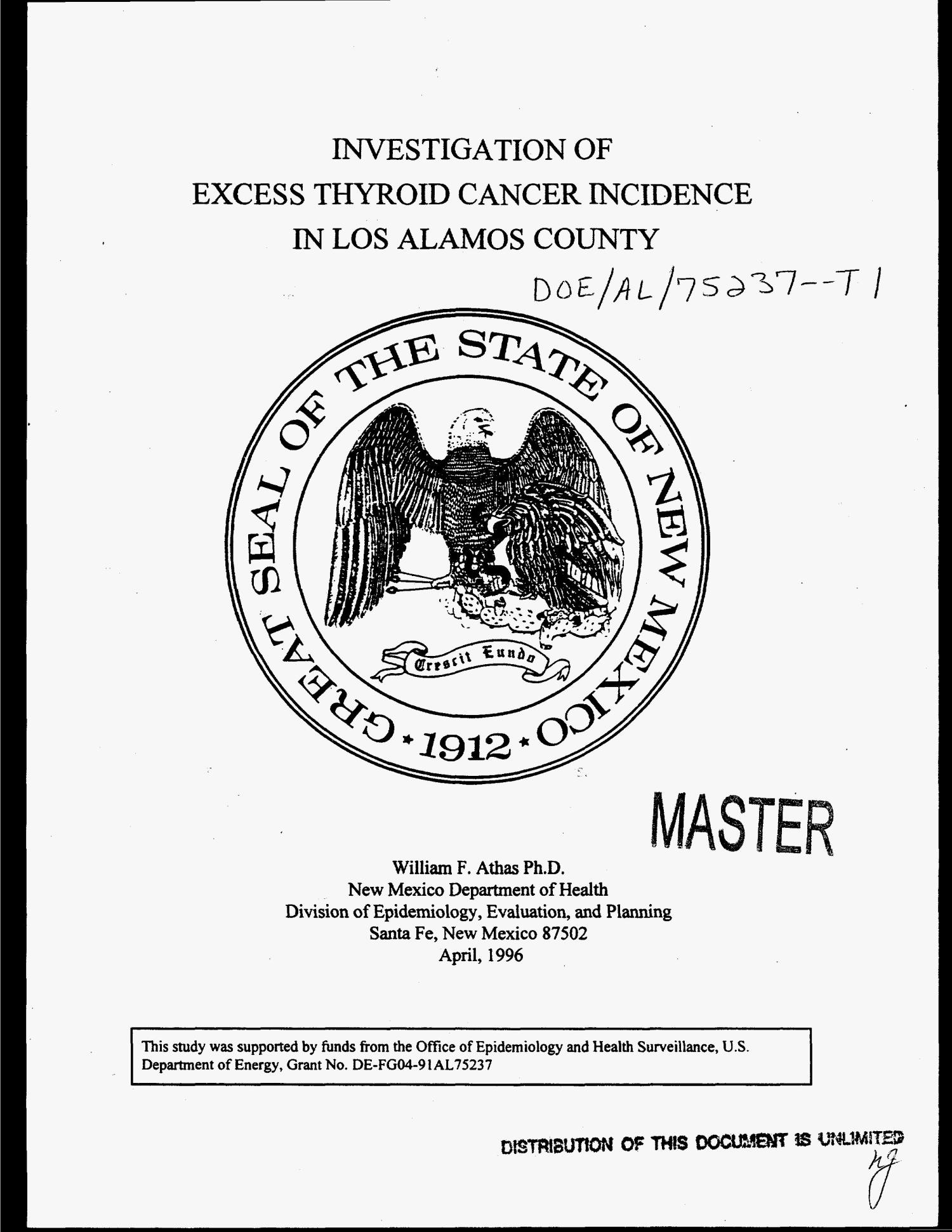 investigation of excess thyroid cancer incidence in los alamos NIH Email investigation of excess thyroid cancer incidence in los alamos county digital library