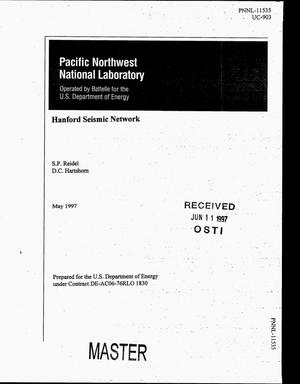 Primary view of object titled 'Hanford Seismic Network'.