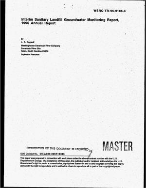 Primary view of object titled 'Interim sanitary landfill groundwater monitoring report. 1996 Annual report'.