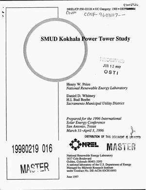 Primary view of object titled 'SMUD Kokhala Power Tower Study'.