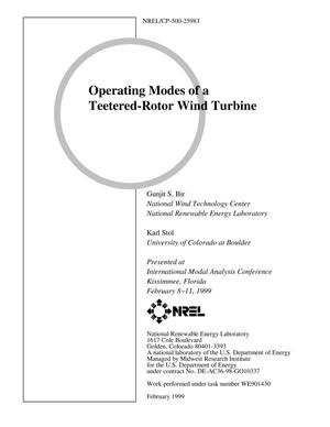 Primary view of object titled 'Operating Modes of a Teeter-Rotor Wind Turbine'.
