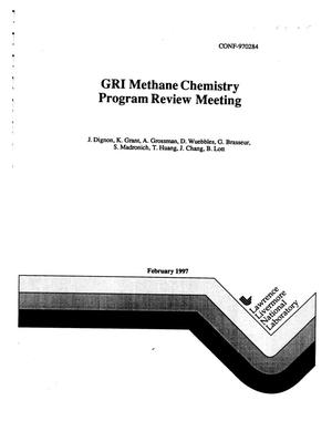 Primary view of object titled 'GRI methane chemistry program review meeting'.