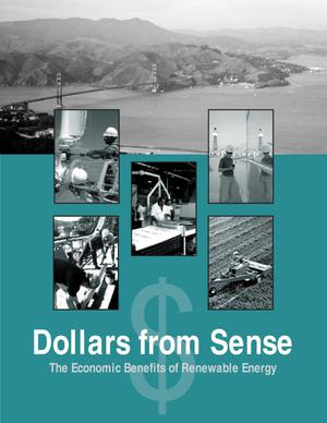 Primary view of object titled 'Dollars from sense: The economic benefits of renewable energy'.