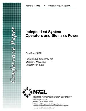 Primary view of object titled 'Independent System Operators and Biomass Power'.