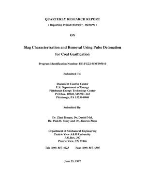 Primary view of object titled 'Slag characterization and removal using pulse detonation for coal gasification'.
