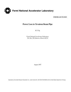 Primary view of object titled 'Power loss to Tevatron beam pipe'.